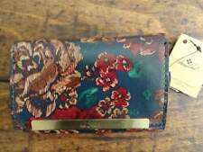 PATRICIA NASH Fall Tapestry FLORAL Cametti TRIFOLD Italian LEATHER RFID WALLET