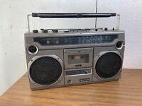 Vintage 1980's Hitachi TRK 8000E Ghetto Blaster Radio Stereo Cassette Recorder