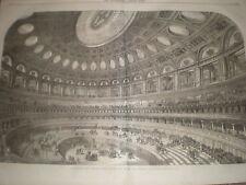 Interior for proposed Albert Hall South kensington london 1867