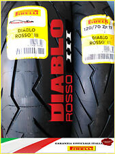 Coppia Gomme Diablo Rosso 3 III 120/70-17 (58w) 190/55-17 (75w) Pirelli