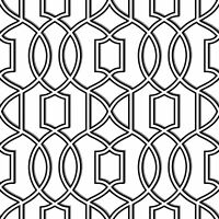 NuWallpaper by Brewster NU1696 Uptown Trellis Black/White Peel & Stick Wallpaper