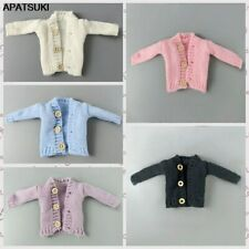 """5pcs/lot Fashion Knitted Coat Sweater For 11.5"""" Doll Clothes Outfits Top 1/6 Toy"""