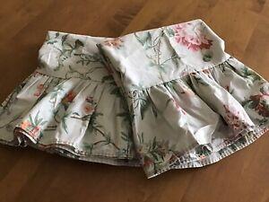 2 Rare Ralph Lauren Toulouse Claudette Floral Pewter Standard Ruffled Pillowcase