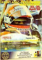 23 25. April 1982 45. International ADAC Course Eifel Nürburgring Programmheft