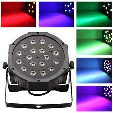 PROIETTORE DMX EFFETTO LUCE LED FLAT PAR LIGHT RGB ALTA LUMINOSITA' A 18 LED