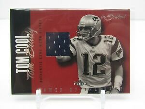 TOM BRADY 2004 FLEER NAMES OF THE GAME INSCRIBED GAME WORN JERSEY -PATRIOTS!