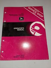 John Deere 317 Hydrostatic Garden Lawn Tractor Operator's Manual Om-M82777 I8