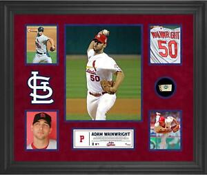 A. Wainwright STL Cardinals Framed Collage w/ Piece of Game-Used Ball - Fanatics