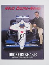Helio Castro-Neves Indy Car Driver Autographed 8.5x11 Ad Card with Coa