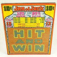 """Vintage """"JAR of JACK"""" Punch 10 Cent Punch Board — UNPUNCHED 120 Winners - FUN"""