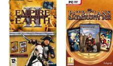 Empire Earth 2 Gold & Patrician III y gran arte Race & Dark Star 1 Nuevo y Sellado