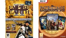 empire earth  2 gold & Patrician III & Great Art Race & dark star 1   new&sealed