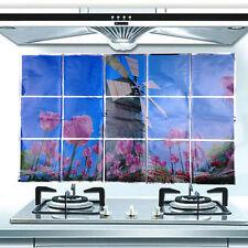 Waterproof Tulips Kitchen Oil-proof Removable Wall Stickers Vinyl Art Decor 562