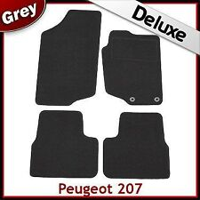 Peugeot 207 CC Coupe Cabriolet 2006 - 2012 Tailored LUXURY 1300g Car Mats GREY