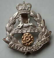 British Army, East Lancashire Regiment Officer's Cap Badge.