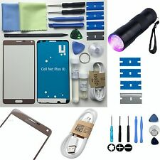 Samsung Galaxy Note 4 Front Outer Glass lens Screen Replacement Repair Kit GOLD