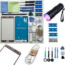 Samsung Galaxy Note 4 Exterior Frontal Lente De Vidrio Reemplazo De Pantalla Kit De Reparación De Oro