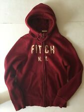 {NWT] Abercrombie & Fitch Mens Bartlett Pond Hoodie Red (Size :L)