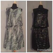 Bundle Of 2 Next Party Tops Size 12 Ladies Floaty Sleeveless VGC