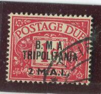 G.B. Offices - Tripolitania Stamps #J2 Used,F-VF (X5836N)