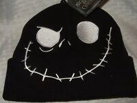 Adult Nightmare Before Christmas Jack Skellington Skull Face Disney Beanie Hat