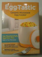 Microwave Egg Cooker And Poacher White/Orange Eggtastic