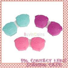 Pig Contact Lens Soaking Case Storing Holder Box Nice 1pc Color Random SCUS