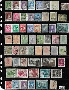 #6825     Small Vintage Stamp collection Romania All used / cancelled Overprints