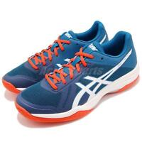 Asics Gel-Tactic Blue White Orange Men Volleyball Badminton Shoes B702-N401