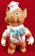 Toy Vintage Authentic Rubber Piglet Rare Doll Figurine Painted Collectible Piggy
