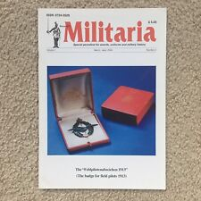 MILITARIA Vol. 1, No. 2,  Edited by Klaus Patzwall - WWI & WWII Military Awards