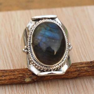 Classical Round Cut Black Onyx Gemstone Silver Women Men Band Jewellery  Size10