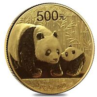 2011 1 oz Chinese Gold Panda 500 Yuan BU (Sealed)
