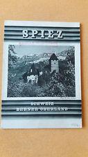 altes Reise Prospekt Spiez, Berner Oberland, Schweiz, um 1932