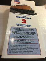 Union Pacific Railroad System Timetable # 2 1995 Vintage