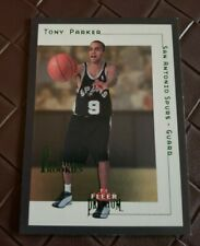 Tony Parker 2001/02 Fleer Premium Rookie RC Card #180 /1500 San Antonio Spurs SP