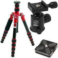 HORUSBENNU M-2531T Red D-SLR Traveler Camera Tripod+BallHead LX-28T Black w/Case