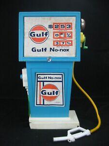 "Vintage 1960s Gulf No-nox Toy Gas Pump 18"" tall H-G Toys East Rockaway NY"