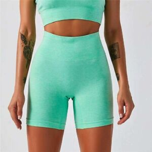 High Waist Seamless Gym Jogging Running Shorts Push Up Gym Compression Clothing