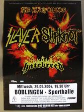 SLAYER / SLIPKNOT -  Böblingen Sporthalle - 29.9.2004