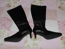 Damen Stiefel schwarz weiches Glattleder Größe 6 **NEU**
