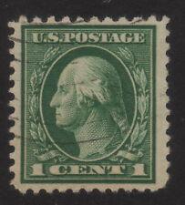 1917 US, 1c stamp, Used, George Washington, Sc 498g, Perf 10 at Top, Cv 20000$