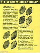 1957 ADVERT Reach Football Eddie LaBaron Bill Wade Norm Van Brocklin