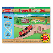Melissa And Doug Wooden Figure 8 Train Set Truck NEW Toys Kids Fun