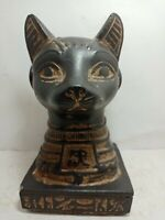 RARE ANCIENT EGYPTIAN ANTIQUE God Bastet Cat Head Eye of Horus Protect 1785 Bc