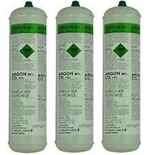 Soldador de gas argón CO2 Desechable SWP Botella 390G 60L X 3 + 2087 Regulador