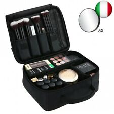 Esonmus Beauty Case Porta Trucchi da Viaggio Donna, Trousse Make Up Organizer