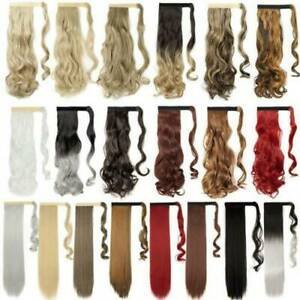 Hair Extensions Real Natural  AS Human NEW Hair Wrap Ponytail Clip in Pony Tail