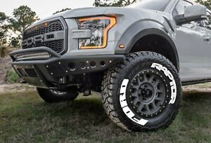"""PERMANENT Tire Lettering FORD RAPTOR Stickers Letter Wheel 14""""-24"""" Decal 1.37"""""""