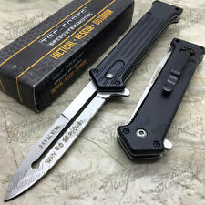 """Tac Force Joker """"Why So Serious"""" Spring Assisted Pocket Knife [Black/Silver]"""